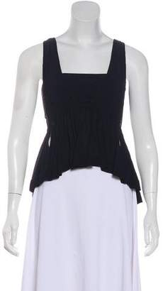 Chloé Ruched Sleeveless Blouse