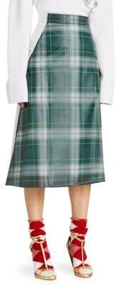 Burberry Tartan A-Line Skirt