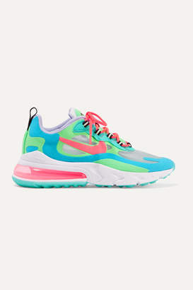 Nike Air Max 270 React Felt And Ripstop Sneakers - Green
