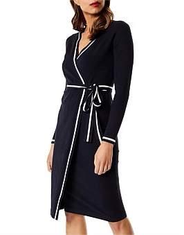 Karen Millen Stripe Wrap Dress