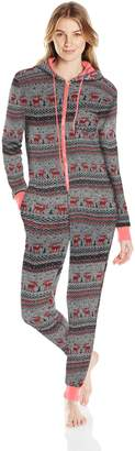 Bottoms Out Women's Printed Sweater Fleece Onesie