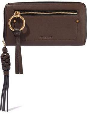 See by Chloe Textured-Leather Continental Wallet
