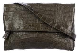 Nancy Gonzalez Caiman Crocodile Foldover Crossbody Bag
