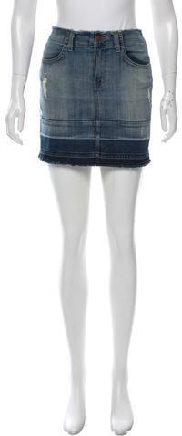 J BrandJ Brand Denim Distressed Skirt