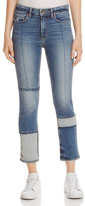 Paige Jacqueline Seamed Straight Crop Jeans in Saratoga - 100% Exclusive