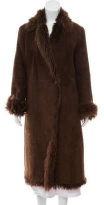 Henry Beguelin Long Faux Fur-Trimmed Coat