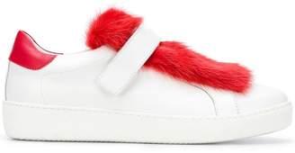 Moncler fur low-top sneakers