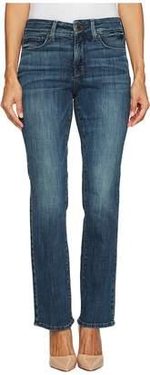 NYDJ Petite Petite Marilyn Straight Jeans in Crosshatch Denim in Desert Gold Women's Jeans