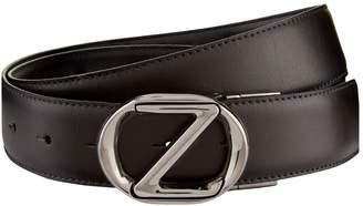 Ermenegildo Zegna Oval Buckle Leather Belt