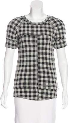Etoile Isabel Marant Wool-Blend Buffalo Plaid Top
