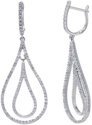 FINE JEWELRY Cubic Zirconia Sterling Silver Double Teardrop Earrings