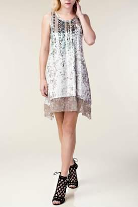 Vocal Apparel Velvet Boho-Chic Dress