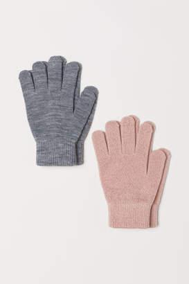 H&M 2-pack Gloves - Pink