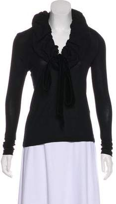 Givenchy High-Neck Long Sleeve Top