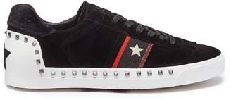 Ash 'Neo' star stripe stud suede sneakers