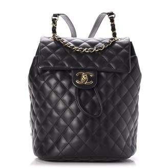 Chanel Urban Spirit Backpack Quilted Diamond Small Black