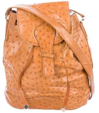 Mark Cross Ostrich Bucket Bag