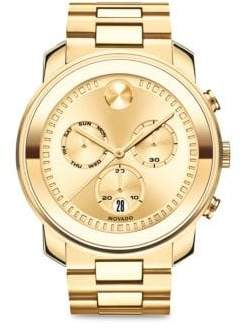 Movado Bold Chronograph Bracelet Watch - Gold