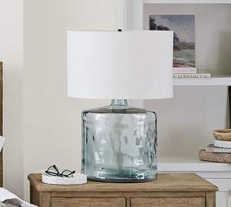Pottery Barn Mallorca Recycled Glass Table Lamp