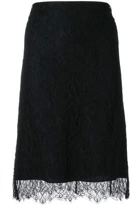 Nina Ricci lace straight skirt