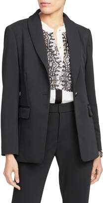 Rachel Roy Collection Twill Shawl Collar Blazer
