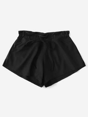 SheinShein Side Slit Drawstring Swim Shorts