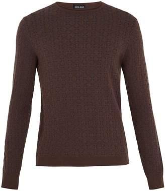 Giorgio Armani Geometric-intarsia crew-neck sweater