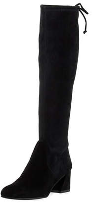 Stuart Weitzman Terra Knee-High Suede Boot, Black