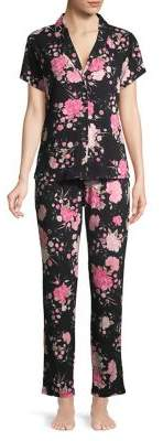 Flora Nikrooz Flora By Two-Piece Floral Pajama Set