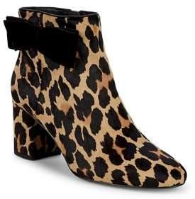 Kate Spade Holly Leopard Print Calf Hair Booties