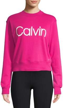 Calvin Klein Logo Cotton Blend Sweatshirt