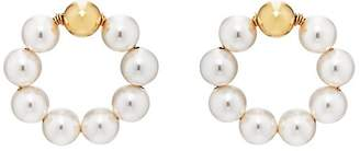 BECK Jewels Women's Large OG Pearl Hoop Earrings