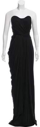 Issa Silk Strapless Dress Black Silk Strapless Dress