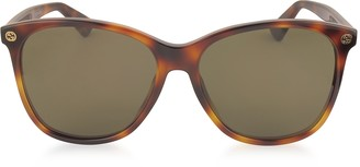 Gucci GG0024S Acetate Round Oversized Women's Sunglasses