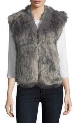 LOVE TOKEN Faux Fur-Trimmed Vest