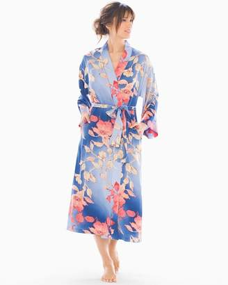 Natori N by Ombre Floral Long Robe