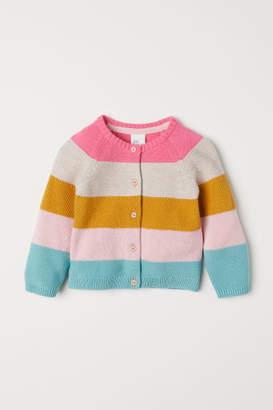 H&M Textured-knit Cardigan - Pink