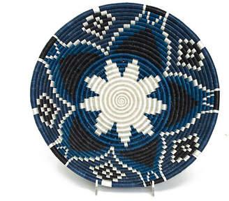 "All Across Africa 16"" Mitu Decorative Bowl - Indigo/Black"