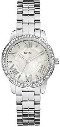 GUESS Women's Quartz Watch with Black Dial Analogue Display Quartz Stainless Steel W0444L1