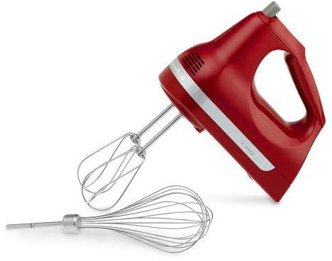 KitchenAid 9-Speed Hand Mixer, Red