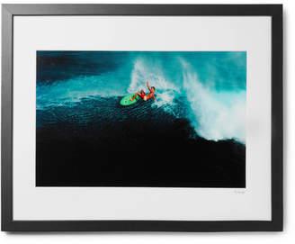 Sonic Editions Framed 1981 Laird Hamilton In Kauai Print, 16 X 20