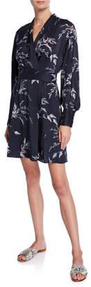 Equipment Fanetta Surplice-Neck Long-Sleeve Dress