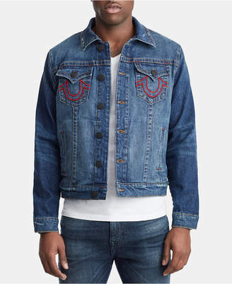 True Religion Men's Branded Logo Jacket