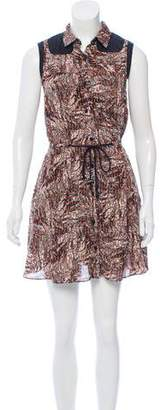 Proenza Schouler Printed Silk Mini Dress