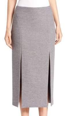 Wes Gordon Double-Slit Pencil Skirt