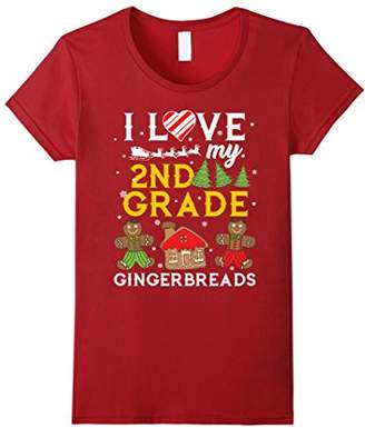 I Love My 2nd Grade Gingerbreads Christmas Teacher T-Shirt
