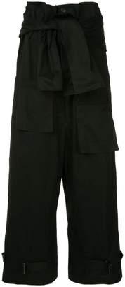 Yohji Yamamoto tied paperbag waist trousers