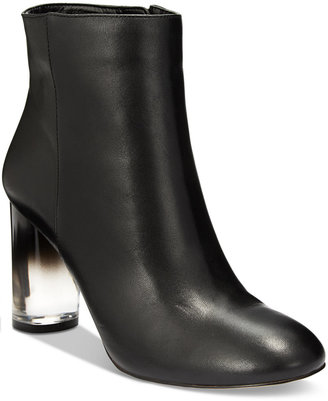 INC International Concepts Women's Taytee Block-Heel Booties, Only at Macy's $129.50 thestylecure.com