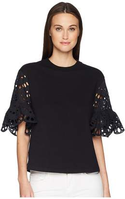 See by Chloe Broderie Anglaise T-Shirt Women's T Shirt