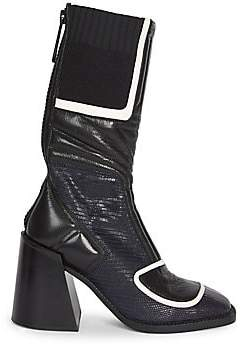 Chloé Women's Bell Tejus Print Leather Boots